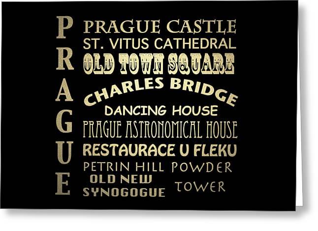 Prague Czech Republic Digital Greeting Cards - Prague Greeting Card by Patricia Lintner