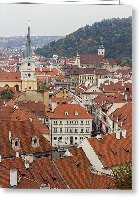 Czechia Greeting Cards - Prague Rooftops Greeting Card by Chris Smith