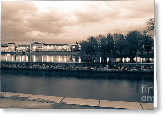 Artistic Photography Greeting Cards - Prague - View of the city From the kampa Island Greeting Card by Giuseppe Mauro Panzani