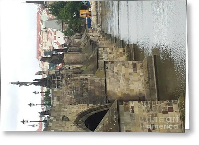 Praha Greeting Card by Adela Kitty