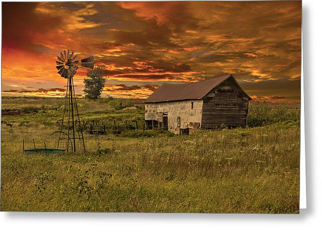 Prairie Barn Greeting Card by Jonas Wingfield