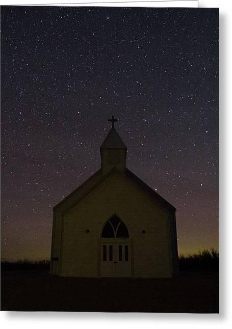 Prairie Church Greeting Card by Megan Hoffman