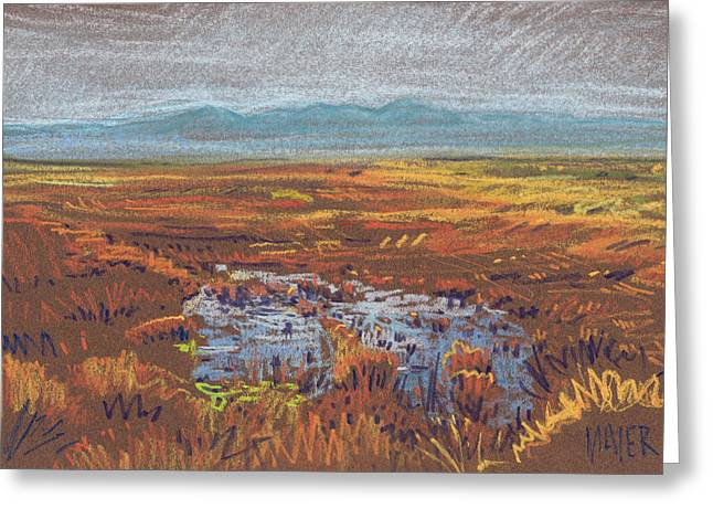 Water Pastels Greeting Cards - Prairie Greeting Card by Donald Maier