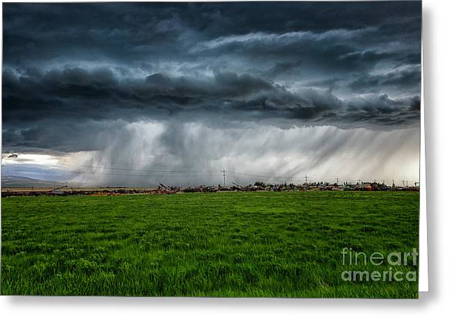 Prairie Squall I Greeting Card by Jamie Tipton