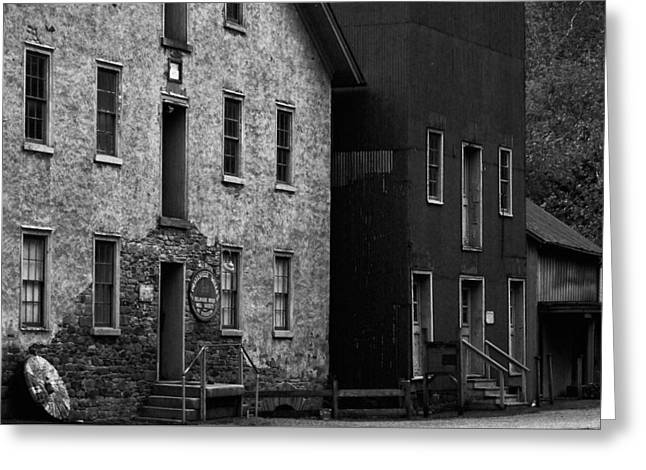Grist Mill Greeting Cards - Prallsville Mill - Old Mill Greeting Card by Val Arie