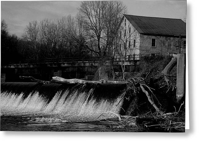 Storm Damage Greeting Cards - Prallsville Mill - Stockton New Jersey Greeting Card by Val Arie