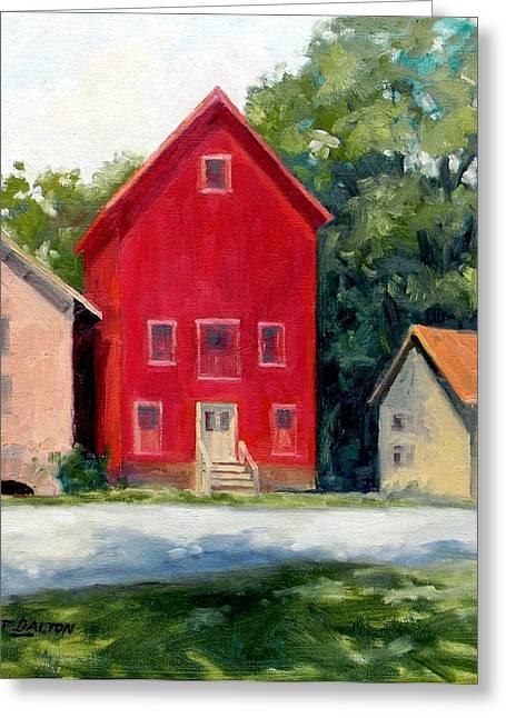 Stockton Greeting Cards - Prallsville Mill Summer Greeting Card by Kit Dalton