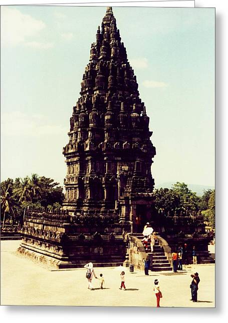 Statue Portrait Greeting Cards - Prambanan Temple Greeting Card by Mario Bennet