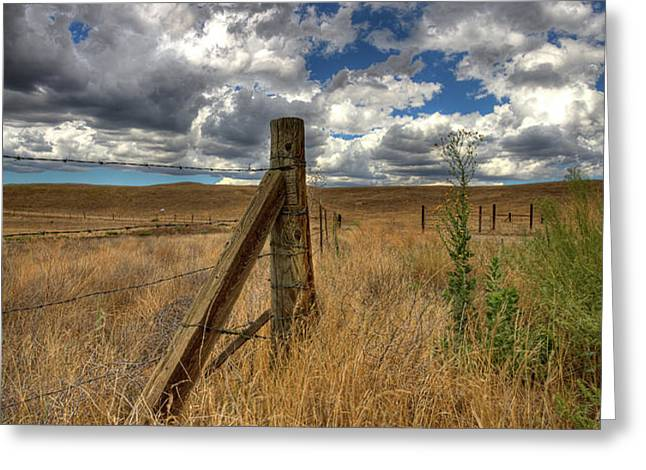 Prarie Sky Greeting Card by Peter Tellone