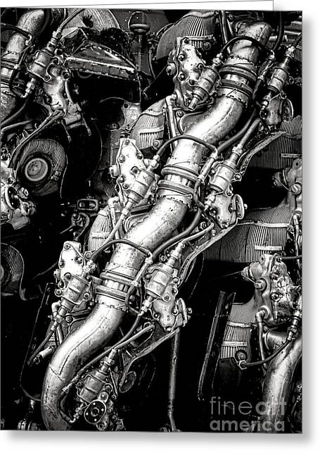 Plane Engine Greeting Cards - Pratt and Whitney Wasp Major  Greeting Card by Olivier Le Queinec