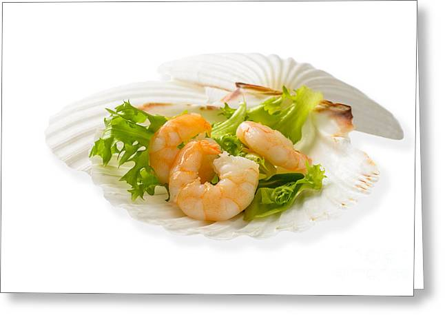 Lettuce Greeting Cards - Prawn Appetizer Greeting Card by Amanda And Christopher Elwell
