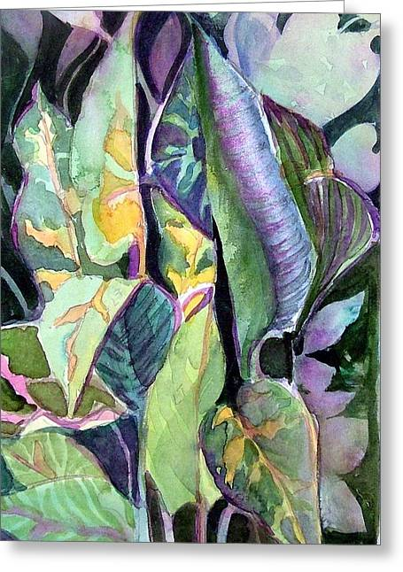 Turning Leaves Greeting Cards - Pray Plant Greeting Card by Mindy Newman