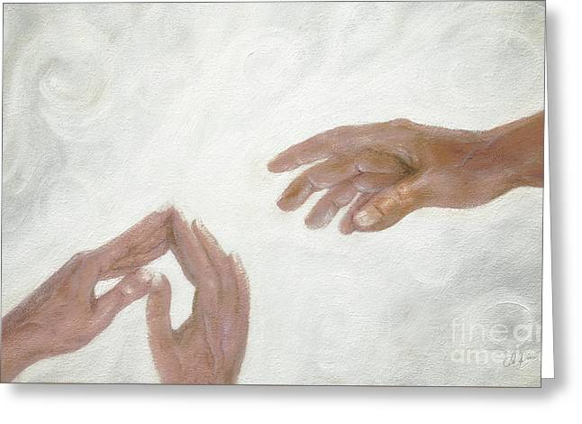 Prayer Greeting Card by Cheryl Rose