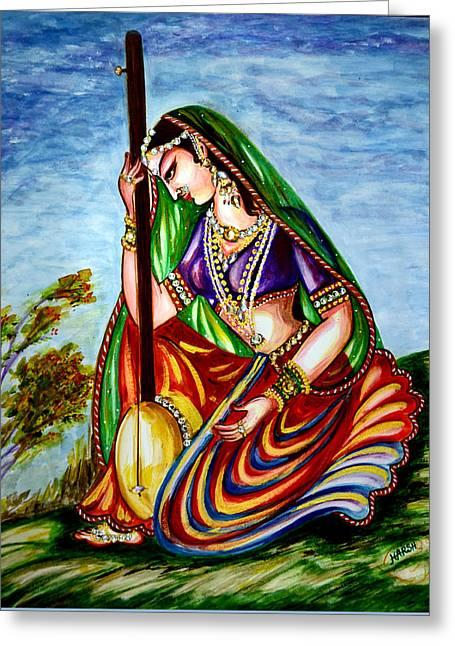 Garden Scene Digital Greeting Cards - Prayer Greeting Card by Harsh Malik