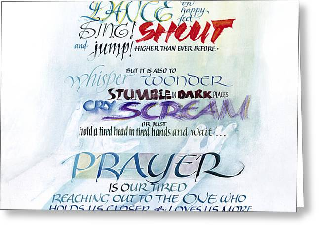Prayer Greeting Card by Judy Dodds