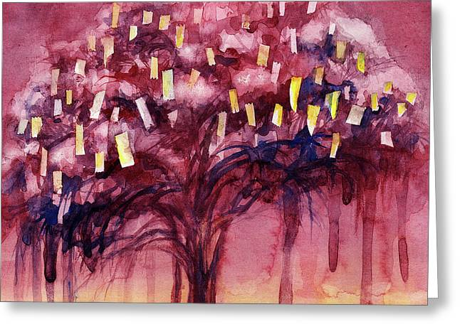 Prayer Tree II Greeting Card by Janet Chui