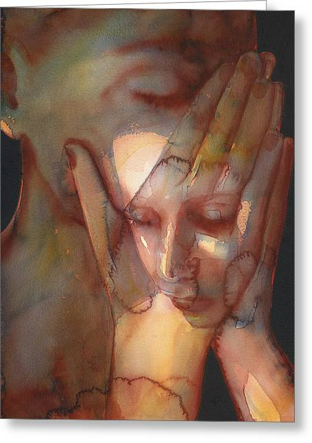 Watermark Greeting Cards - Prayer Two Greeting Card by Graham Dean