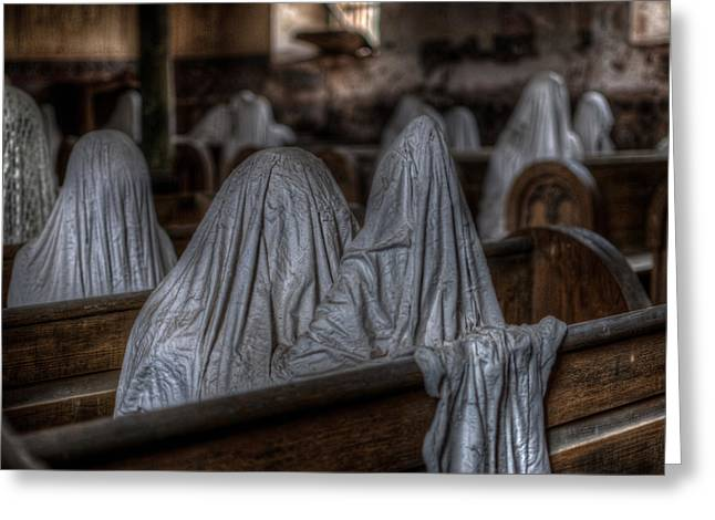 Ghostly Digital Greeting Cards - Praying for peace Greeting Card by Nathan Wright