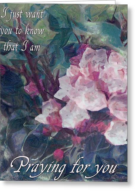 Bible Greeting Cards - Praying for You Greeting Card by Michelle Greene Wheeler