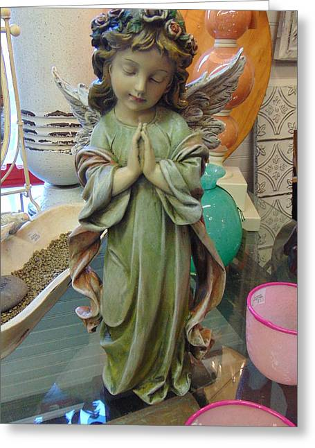 Seraphim Angel Greeting Cards - Praying Wings Greeting Card by Charlotte Gray