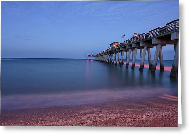 Pre Dawn In Venice, Florida Greeting Card by Jon Glaser