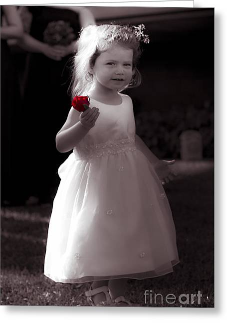 Precious Flower Girl Greeting Card by Jorgo Photography - Wall Art Gallery