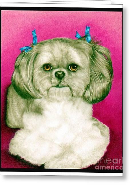 Precious Girl Greeting Card by Sheryl Unwin