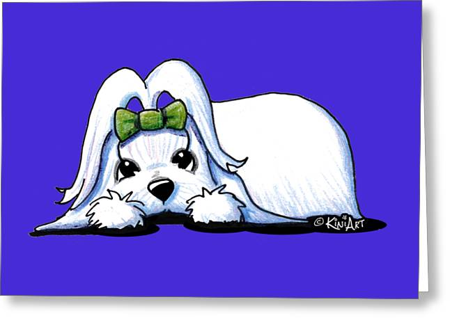 Precious Maltese Greeting Card by Kim Niles
