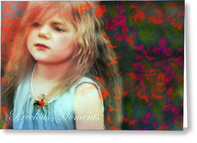 Precious Moment Greeting Cards - Precious Moments Of Innocence Greeting Card by Georgiana Romanovna