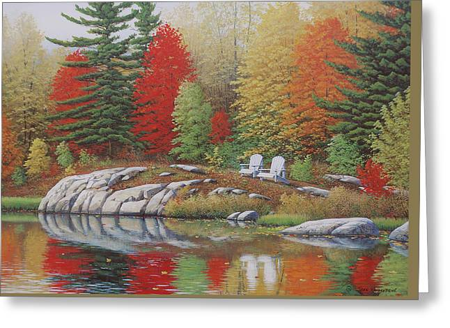 Canadian Nature Scenery Greeting Cards - Preferred Seating Greeting Card by Jake Vandenbrink
