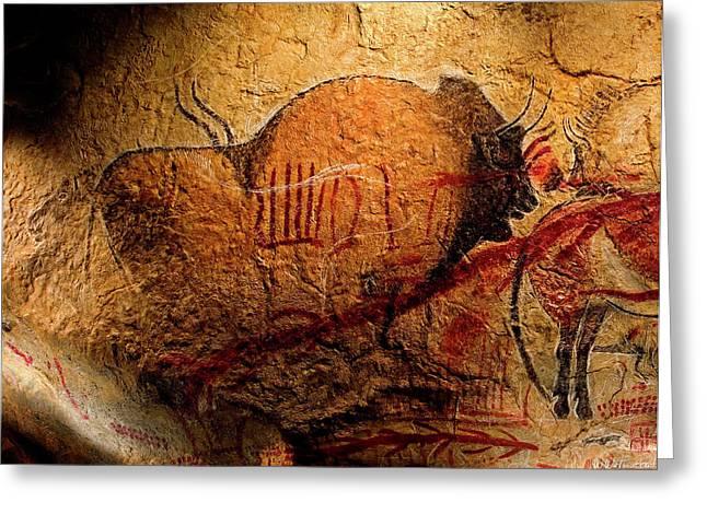Prehistoric Bison Greeting Card by Weston Westmoreland