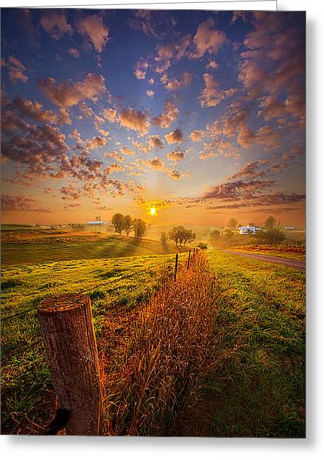Prelude Greeting Card by Phil Koch