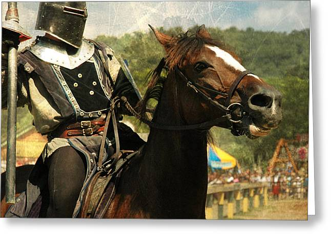 King Arthur Greeting Cards - Prepare the Joust Greeting Card by Paul Ward