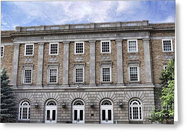 Prescott Greeting Cards - Prescott Court House  Greeting Card by Saija  Lehtonen