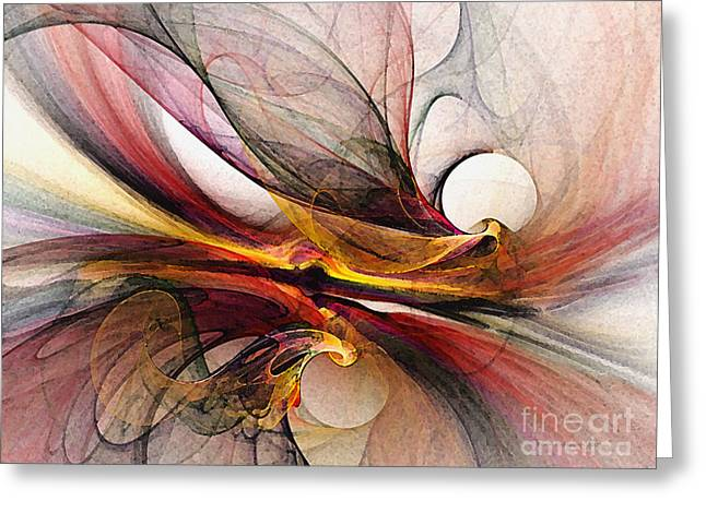 Abstract Expression Greeting Cards - Presentiments Greeting Card by Karin Kuhlmann