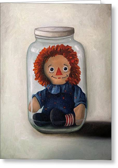 Mason Jars Greeting Cards - Preserving Childhood 2 Greeting Card by Leah Saulnier The Painting Maniac