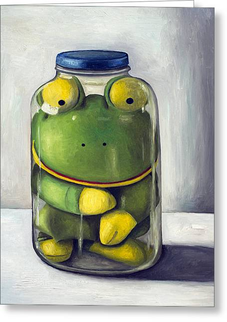 Mason Jars Greeting Cards - Preserving Childhood upclose Greeting Card by Leah Saulnier The Painting Maniac