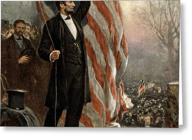 President Abraham Lincoln - American Flag Greeting Card by International  Images