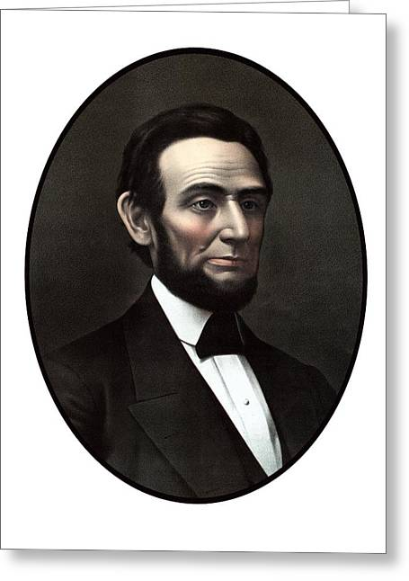 Proclamation Mixed Media Greeting Cards - President Abraham Lincoln  Greeting Card by War Is Hell Store