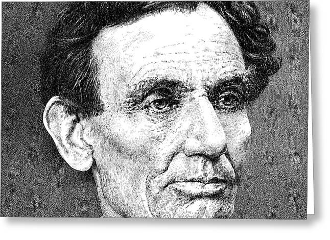 Log Cabin Photographs Drawings Greeting Cards - President Abraham Lincoln Greeting Card by William Beauchamp