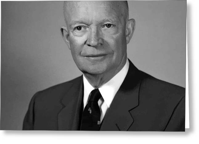 President Eisenhower Greeting Card by War Is Hell Store