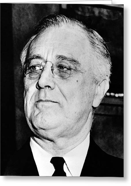 Depression Greeting Cards - President Franklin Delano Roosevelt Greeting Card by War Is Hell Store