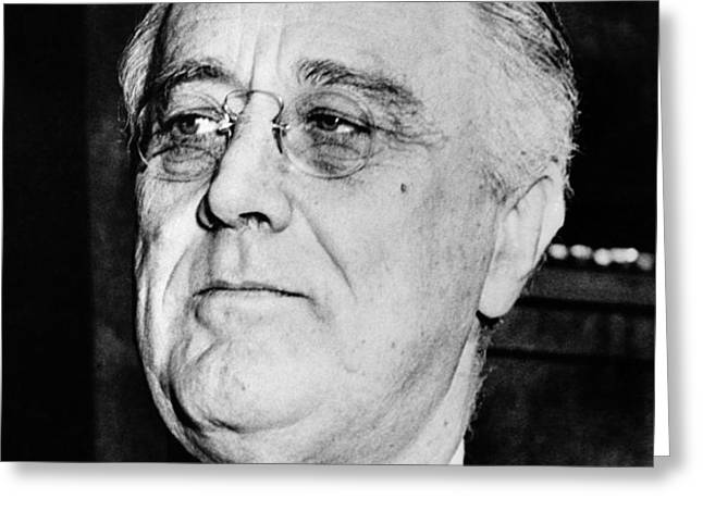 President Franklin Delano Roosevelt Greeting Card by War Is Hell Store
