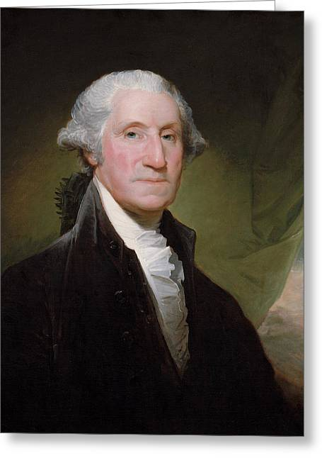 Landmarks Tapestries Textiles Greeting Cards - President George Washington Greeting Card by War Is Hell Store