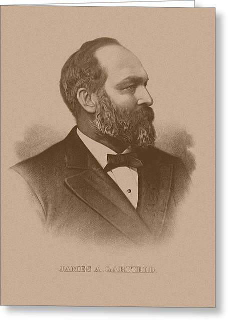 The President Of The United States Greeting Cards - President James Garfield Greeting Card by War Is Hell Store