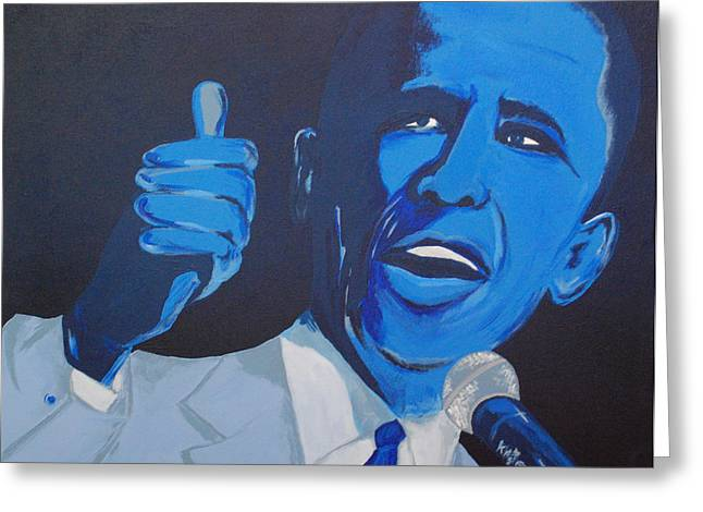 President Obama Greeting Cards - President Greeting Card by Kayon Cox