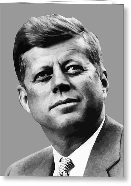 Pigs Greeting Cards - President Kennedy Greeting Card by War Is Hell Store