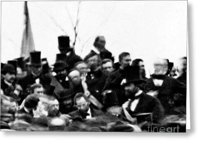 President Lincoln, Cemetery Dedication Greeting Card by Science Source