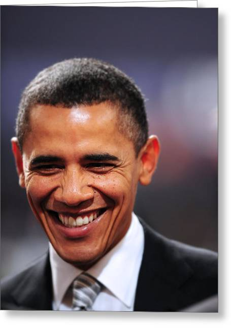 President Obama Photographs Greeting Cards - President Obama Iii Greeting Card by Rafa Rivas