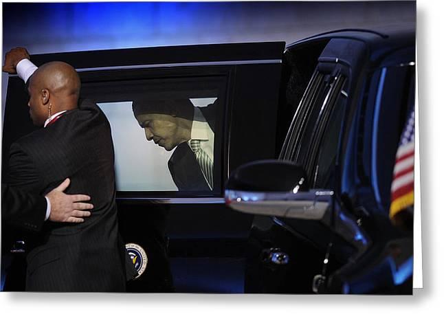 President Obama Photographs Greeting Cards - President Obama Vi Greeting Card by Rafa Rivas